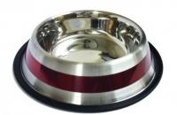 Futter-/ Wassernapf rot gestreift 0,2 L