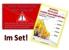 Notfallaufkleber und -karte im Set