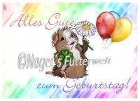 """Geburtstagskarte """"Glücksschweinchen"""""""