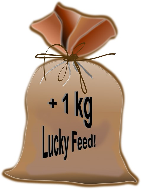 plus 1 Kilo Lucky Feed!
